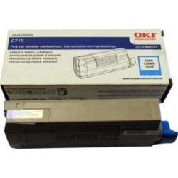 OKI 43866103 Cyan Toner Cartridge for C710