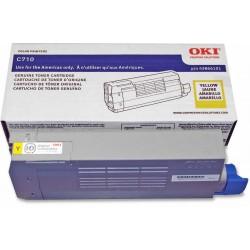 OKI 43866101 Yellow Toner Cartridge fro C710